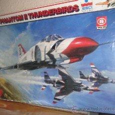 Maquetas: MAQUETA DE AVIÓN F 4 PHANTOM II THUNDERBIRDS,ESCALA 1/48 DE ESCI ITALY. Lote 39135070
