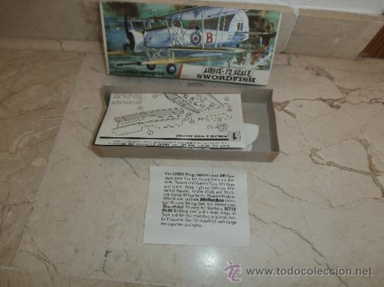 Maquetas: MAQUETA - MAQUETA AIRFIX - 72 SCALE SWORDFISH- FAIREY SWORDFISH MADE IN ENGLAND, 111-1 - Foto 26 - 39278021