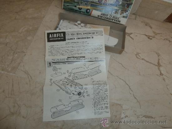 Maquetas: MAQUETA - MAQUETA AIRFIX - 72 SCALE SWORDFISH- FAIREY SWORDFISH MADE IN ENGLAND, 111-1 - Foto 25 - 39278021