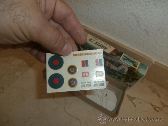 Maquetas: MAQUETA - MAQUETA AIRFIX - 72 SCALE SWORDFISH- FAIREY SWORDFISH MADE IN ENGLAND, 111-1 - Foto 10 - 39278021