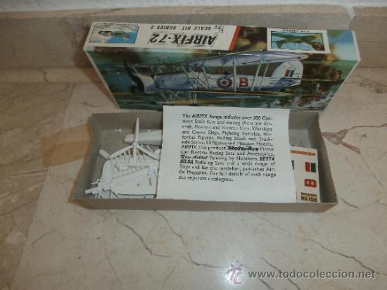 Maquetas: MAQUETA - MAQUETA AIRFIX - 72 SCALE SWORDFISH- FAIREY SWORDFISH MADE IN ENGLAND, 111-1 - Foto 9 - 39278021