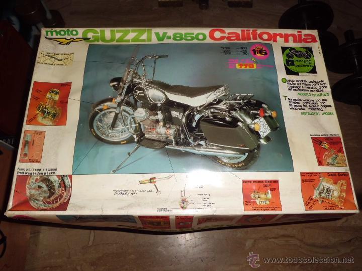 FANTASTICA MOTO GUZZI V-850 CALIFORNIA PROTAR PROVINI AÑO 1972 ESC. 1/6 LEER DESCRIP. VER FOTOS (Juguetes - Modelismo y Radiocontrol - Maquetas - Coches y Motos)