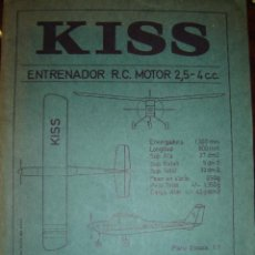 Maquetas: KISS ENTRENADOR RC PLANO ESCALA 1.1. Lote 39671017
