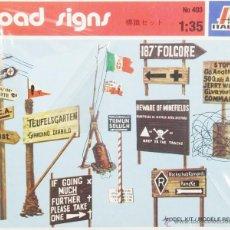 Maquetas: MAQUETAS ACCESORIOS POSTES DE SEÑALES, REF. 403, 1/35, ITALERI. Lote 143938514