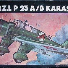 Maquetas: MAQUETA HELLER 1/72 PZL P.23A/B KARAS #247. Lote 31362552