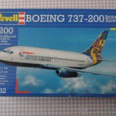 Maquetas: MAQUETA REWELL DE AVION BOEING 737-200 1:200 REF 04232 EN CAJA NUEVA A ESTRENAR . Lote 39920675