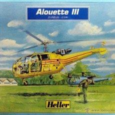 Maquetas: ALOUETTE III ESCALA 1/100 MAQUETA PARA MONTAR HELLER. Lote 40045160