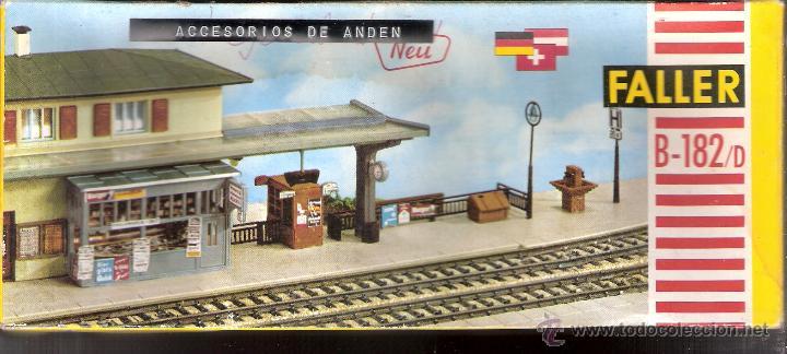FALLER. B-182/D. CAJA + PIEZAS. ACCESORIOS DE ANDÉN. VER FOTOS. (Juguetes - Modelismo y Radiocontrol - Maquetas - Construcciones)