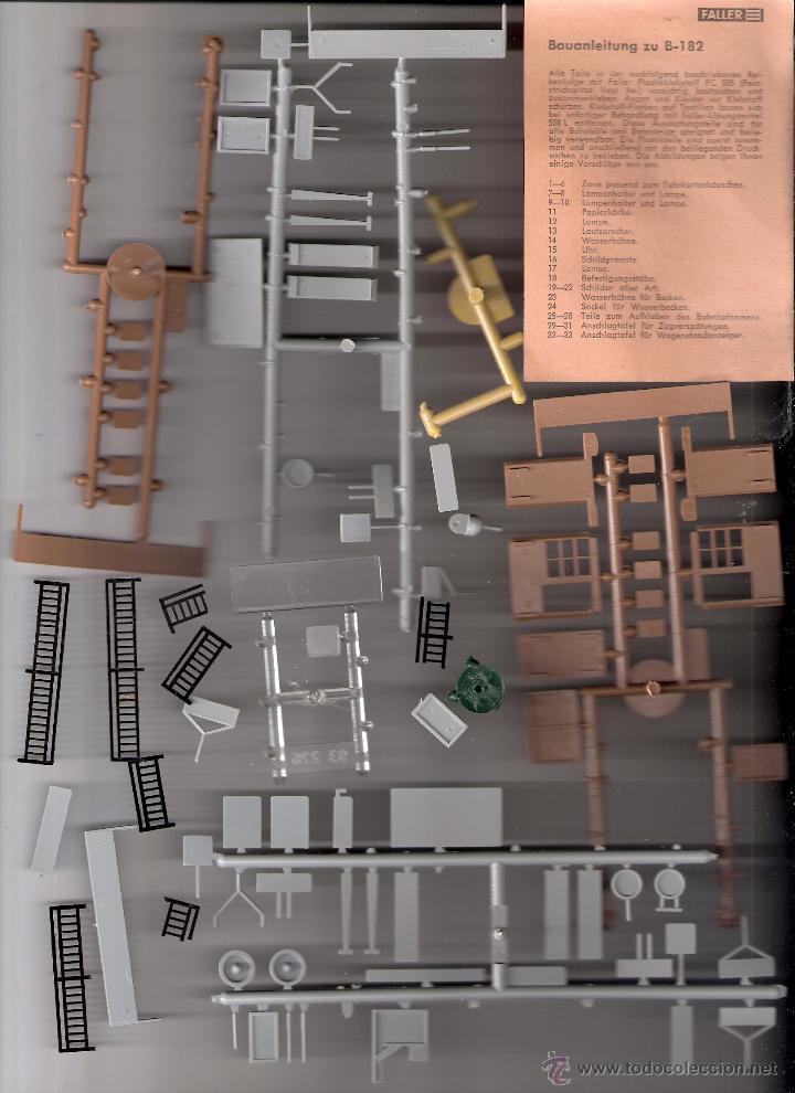 Maquetas: Faller. B-182/D. Caja + piezas. Accesorios de andén. Ver fotos. - Foto 2 - 40047274
