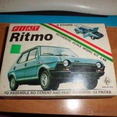 Maquetas: FIAT RITMO ESCALA 1/48 MONTADO COMPLETO+ CAJA AÑOS 80. Lote 218641290