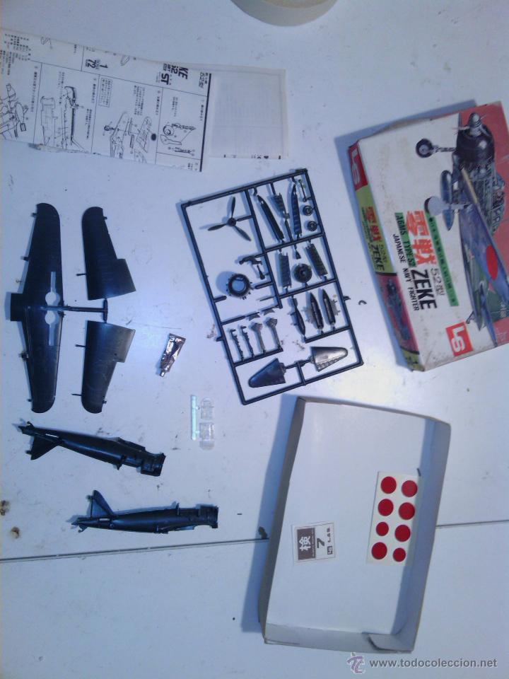 Maquetas: caja kit avion de montaje made in japan años 70 - Foto 2 - 202781133