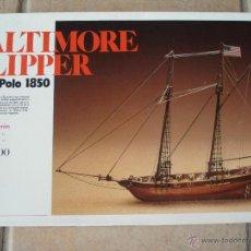 Maquetas: BALTIMORE CLIPPER MARCO POLO 1850. ARTESANIA LATINA. Lote 206130100