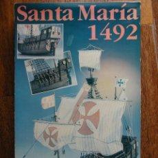 Maquetas - SANTA MARÍA 1492, MAQUETA DE ARTESANÍA LATINA DEL AÑO 1992. - 40808059