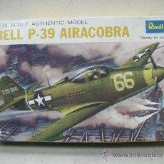 Maquetas: REVELL REF: H-640 - MAQUETA DE AVIÓN PARA MONTAR BELL P-39 AIRACOBRA - ESCALA 1/72. Lote 141934138