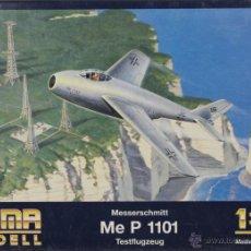 Maquettes: MAQUETA AVIÓN MESSERSCHMITT ME P 1101 TESTFLUGZEUG, REF. 3001, 1/72, HUMA MODELL. Lote 43062826