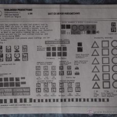 Maquetas: TRANSFERIBLES - CALCAS (EN SECO) BRITISH ARMOUR MARKINGS WWII - VERLINDEN 348 - 1/35. Lote 43306871