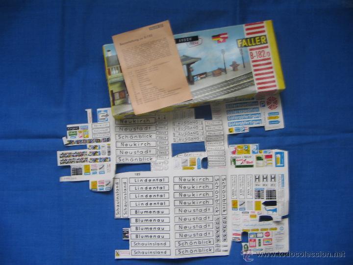 Maquetas: Faller. B-182/D. Caja + piezas. Accesorios de andén. Ver fotos. - Foto 8 - 40047274