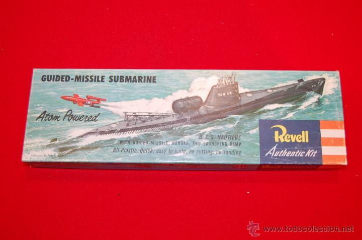 Maquetas: Antigua maqueta del submarino U.S.S. Nautilus, de Revell - Foto 2 - 45372346