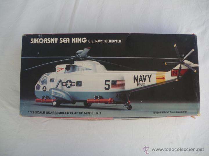 MAQUETA DEL HELICOPTERO SIKORSKY SEA KING ESCALA 1:72 AÑO 85 PARA MONTAR. (Juguetes - Modelismo y Radio Control - Maquetas - Aviones y Helicópteros)