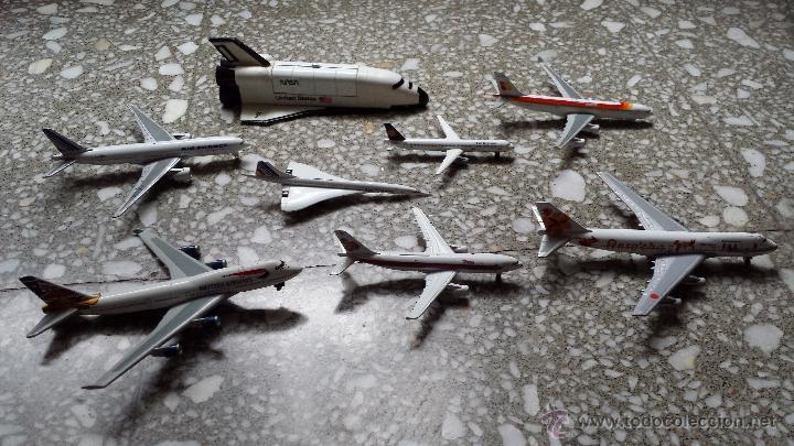 Maquetas: AVIONES METALICOS. 7 DE COMPAÑIAS AEREAS Y TRANSBORDADOR DE LA NASA. - Foto 2 - 46147283