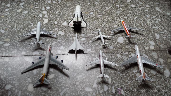 Maquetas: AVIONES METALICOS. 7 DE COMPAÑIAS AEREAS Y TRANSBORDADOR DE LA NASA. - Foto 3 - 46147283