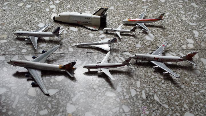 Maquetas: AVIONES METALICOS. 7 DE COMPAÑIAS AEREAS Y TRANSBORDADOR DE LA NASA. - Foto 4 - 46147283