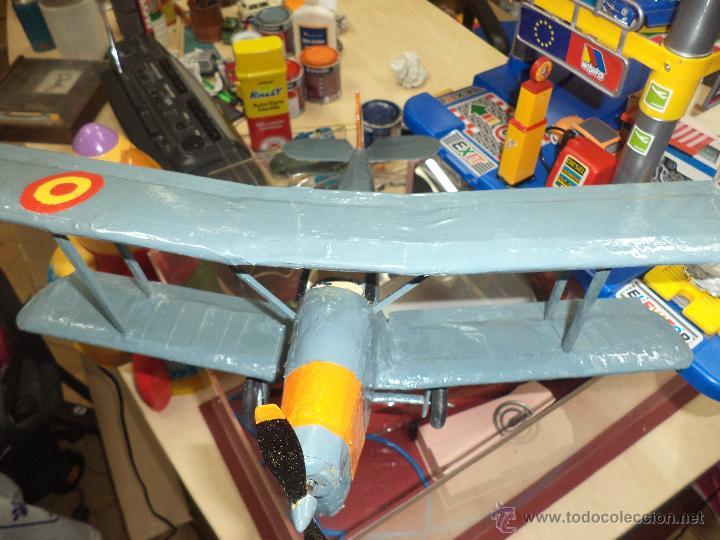 Maquetas: Avión Biplano de entrenamiento Bucker - BU131- E3b,Ejército del Aire España Base de Armilla - Foto 2 - 46538640