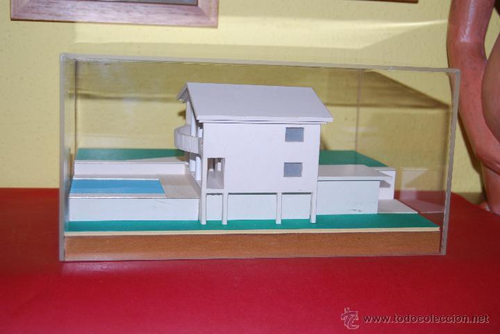 MAQUETA CASA - URNA METACRILATO - CHALET - PROYECTO ARQUITECTÓNICO - ARQUITECTURA - CONSTRUCCIÓN (Juguetes - Modelismo y Radiocontrol - Maquetas - Construcciones)