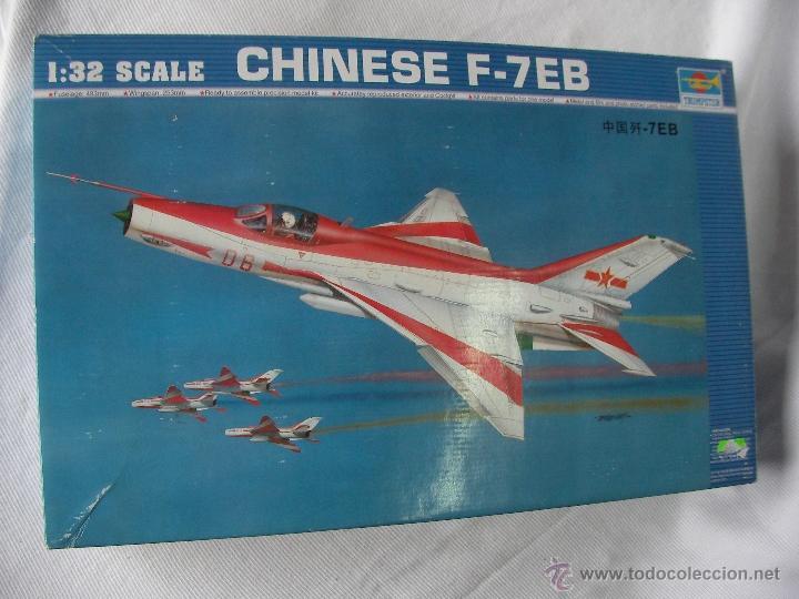 ANTIGUA MAQUETA AVION MILITAR CHINO F-7 EB NUEVA PRECINTADA (Juguetes - Modelismo y Radio Control - Maquetas - Aviones y Helicópteros)