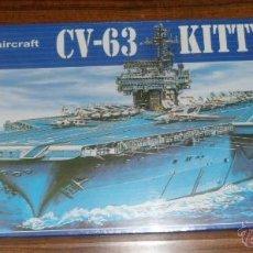 Maquetas: MAQUETA PORTAAVIONES CV-63 KITTYHAWK U.S.S CARRIER 1/800. Lote 111808316