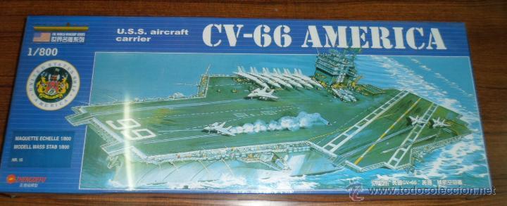 MAQUETA PORTAAVIONES CV-66 AMERICA U.S.S CARRIER 1/800 (Juguetes - Modelismo y Radiocontrol - Maquetas - Barcos)