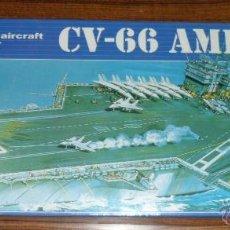 Maquetas: MAQUETA PORTAAVIONES CV-66 AMERICA U.S.S CARRIER 1/800. Lote 102605960