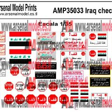 Maquetas: AMP35033 IRAQ CHECKPOINT ESCALA 1/35. Lote 47411961