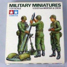 Maquetas: TAMIYA MILITARY MINIATURES US MORTAR & CREW ESCALA 1/35. Lote 47590710