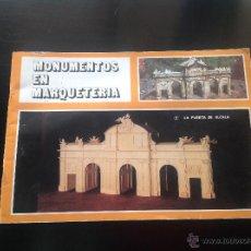 Maquetas: MONUMENTOS EN MARQUETERÍA . PUERTA DE ALCALÁ . Lote 47945183