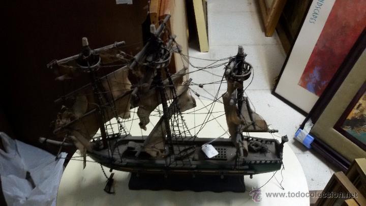 MAQUETA DE BARCO MUY ANTIGUO (Juguetes - Modelismo y Radiocontrol - Maquetas - Barcos)
