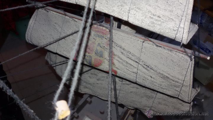 Maquetas: ANTIGUA MAQUETA DE BARCO CON CAÑONES DE BRONCE - Foto 4 - 48457501