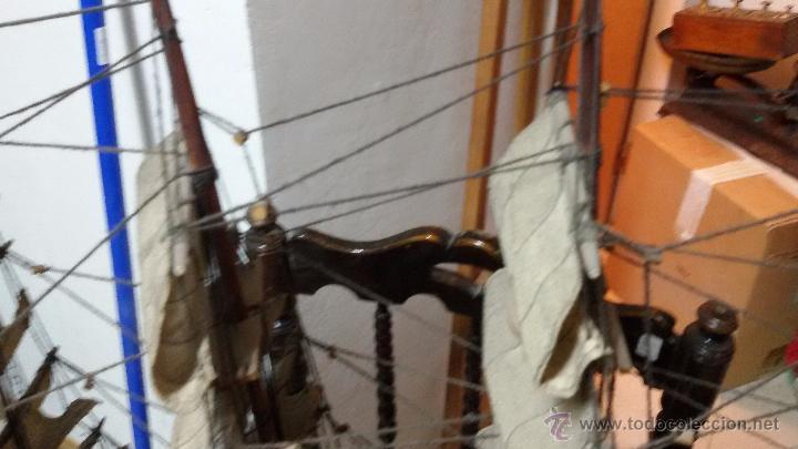 Maquetas: ANTIGUA MAQUETA DE BARCO CON CAÑONES DE BRONCE - Foto 9 - 48457501