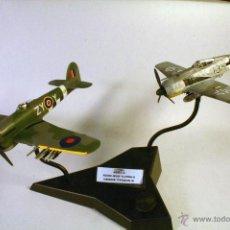 Maquetas: AIRFIX. ESCALA 1/72. DOGFIGHT DOUBLES. FOCKE-WULF FW 190 A.B - HAWKER TYPHOON 1B. MAQUETA MONTADA . Lote 48932323