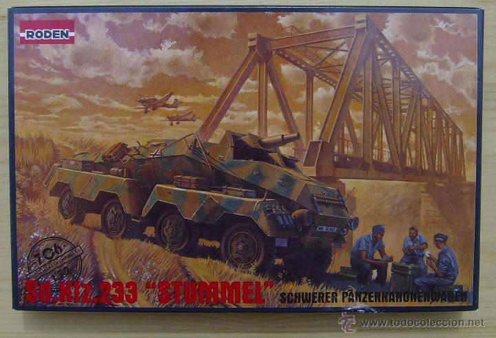 MAQUETA RODEN, SD.KFZ.233 STUMMEL SCHWERER PANZERKANONENWAGEN, ESCALA 1/72, REF 706 (Juguetes - Modelismo y Radiocontrol - Maquetas - Militar)