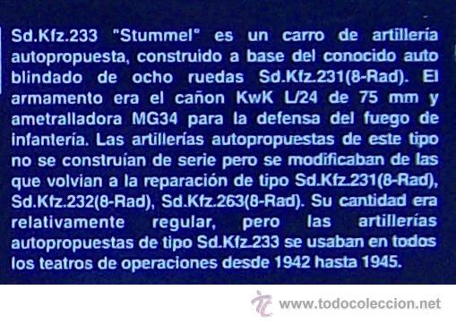 Maquetas: MAQUETA RODEN, Sd.Kfz.233 STUMMEL SCHWERER PANZERKANONENWAGEN, Escala 1/72, REF 706 - Foto 7 - 49189272