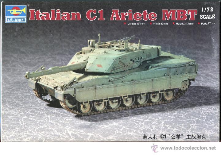 MAQUETA TRUMPETER, ITALIAN C1 ARIETE MBT, ESCALA 1/72, REF 07250 (Juguetes - Modelismo y Radiocontrol - Maquetas - Militar)