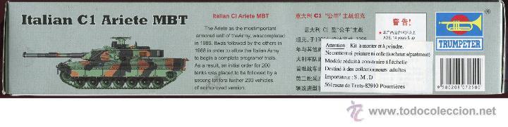 Maquetas: MAQUETA TRUMPETER, ITALIAN C1 ARIETE MBT, Escala 1/72, REF 07250 - Foto 5 - 49204224