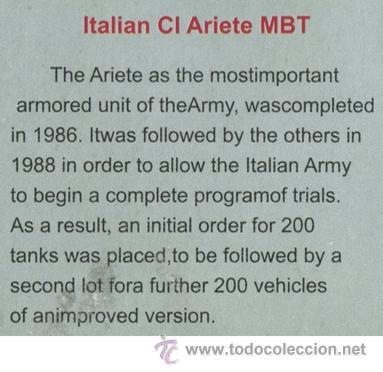 Maquetas: MAQUETA TRUMPETER, ITALIAN C1 ARIETE MBT, Escala 1/72, REF 07250 - Foto 6 - 49204224