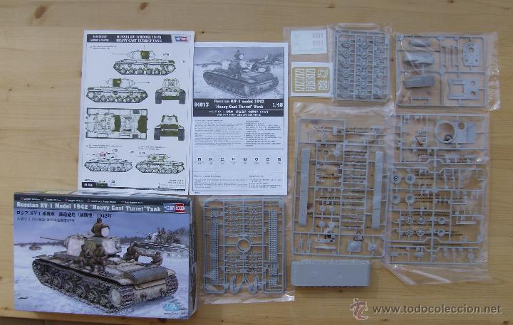 Maquetas: MAQUETA HOBBY BOSS, Russian KV-1 Model 1942 Heavy Cast Turret Tank, Escala 1/48, REF 84813 - Foto 2 - 49204507