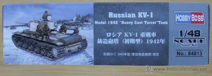 Maquetas: MAQUETA HOBBY BOSS, Russian KV-1 Model 1942 Heavy Cast Turret Tank, Escala 1/48, REF 84813 - Foto 4 - 49204507