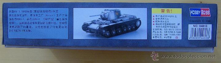 Maquetas: MAQUETA HOBBY BOSS, Russian KV-1 Model 1942 Heavy Cast Turret Tank, Escala 1/48, REF 84813 - Foto 5 - 49204507