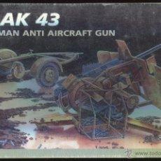 Maquetas: MAQUETA ITALERI, FLAK 43 GERMAN ANTI AIRCRAFT GUN, ESCALA 1/35, REF 363. Lote 49337753