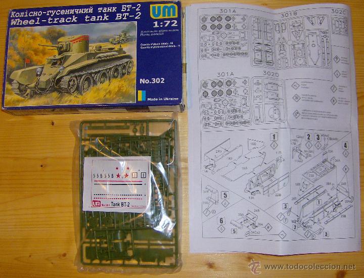 Maquetas: UNIMODEL, Wheel - track tank BT-2, Escala 1/72, REF 302 - Foto 2 - 49364652