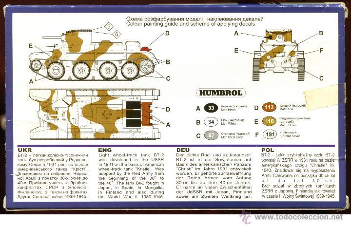 Maquetas: UNIMODEL, Wheel - track tank BT-2, Escala 1/72, REF 302 - Foto 6 - 49364652